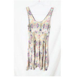 FREE PEOPLE Watercolor Pastel Sleeveless Dress EUC